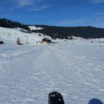 Schneeweg Richtung Rossboden